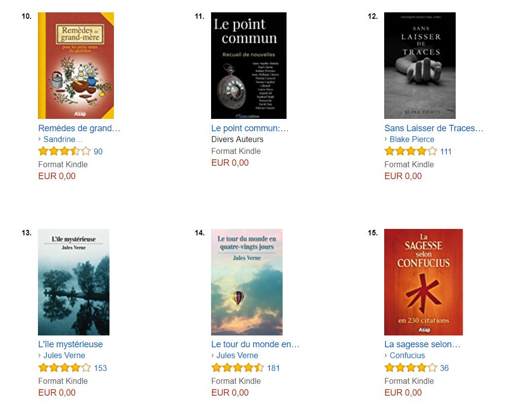 classement Amazon