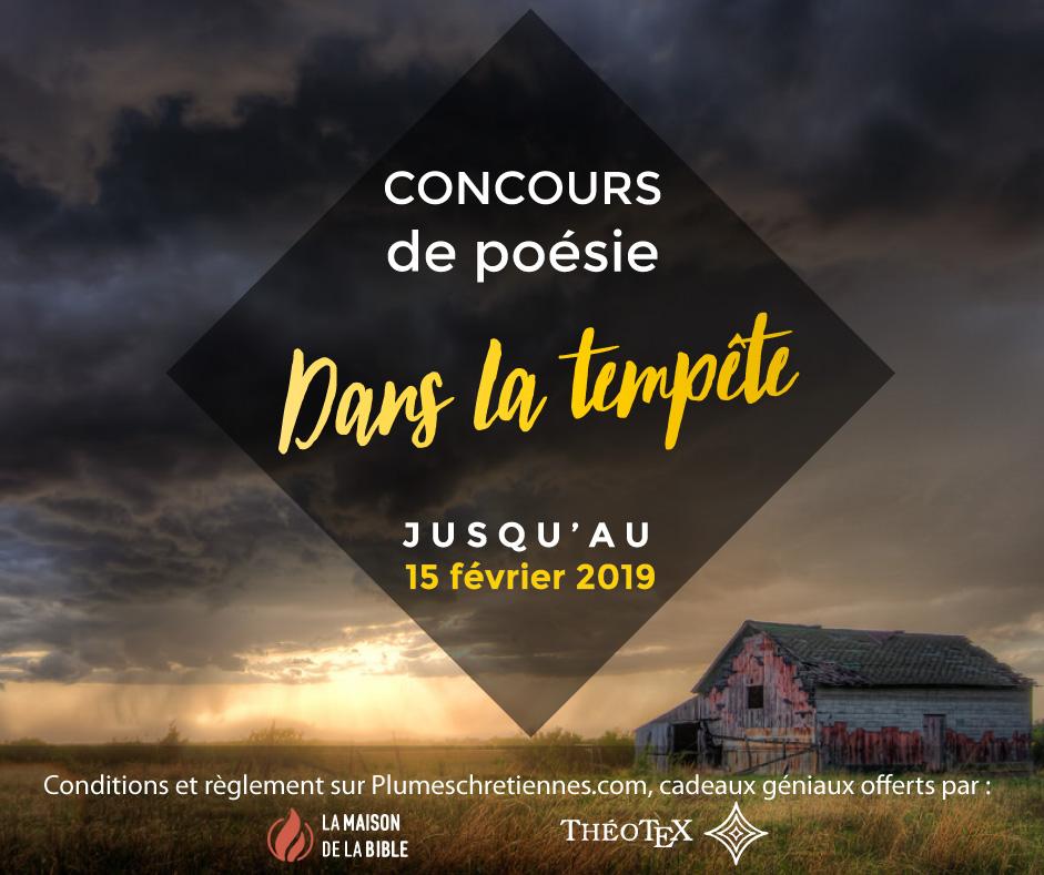 Visuel Tempête concours de poésie